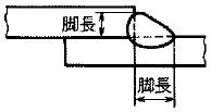 (すみ肉の)脚長の参考図