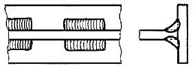 並列断続すみ肉溶接の参考図